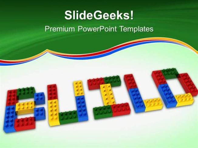 strategy build lego education construction ppt template powerpoint