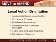 Move to Amend Local Action Orientation