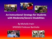 An Instructional Strategy for Students with Moderate