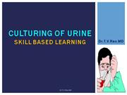 Culturing of urine, Skills in microbiology