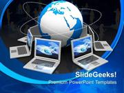 TEAMWORK GLOBAL TARGET COMPUTER PPT TEMPLATE