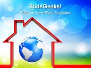 PROTECT THE WORLD GLOBE POWERPOINT TEMPLATE