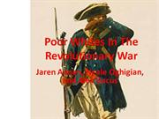 Poor Whites In The Revolutionary War