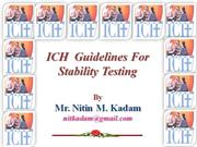 Lecture on ICH Guidelines