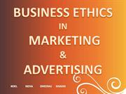 BUSINESS ETHICS IN MARKETING