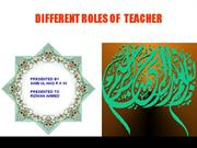 Diferrent roles of a teacher PPT