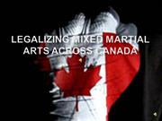 legalizing mixed marital arts in canada