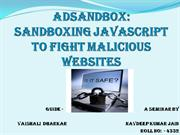 ADSandbox : A Fight Against Malicious Websites