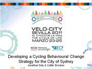 Developing a cycling behavioural change strategy for the City of Sydne