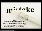Common Mistakes in Social Media Marketing and their Prevention