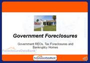 Government Foreclosures: Government REOs, Tax Foreclosures and Bankrup