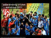 India winning world cup 2011