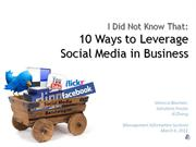 10 Ways to Leverage Social Media in Corporations
