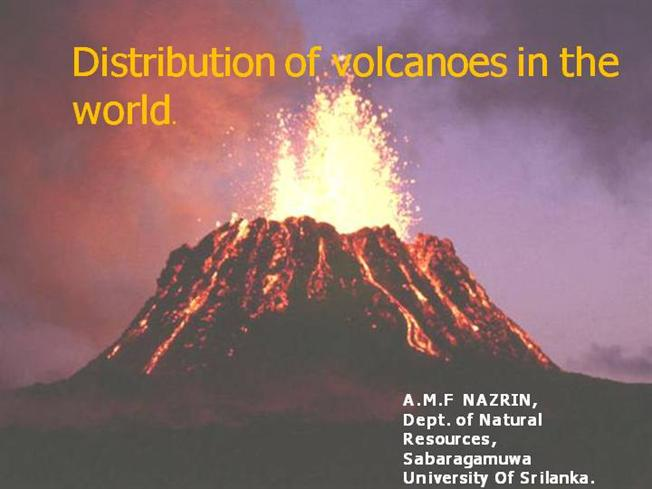 distribution of volcanoes in the world |authorstream, Modern powerpoint