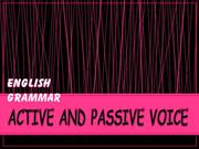 enlish grammer (active and passive voice)