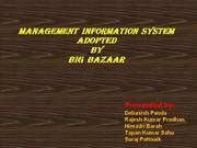 Management information system of Big Bazaar