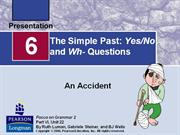 Adv4 Un2 - The Simple Past Yes No and Wh- Questions