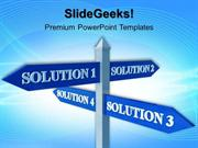 BUSINESS SOLUTION SIGNPOST BUSINESS PPT TEMPLATE 1