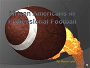 african americans in professional football