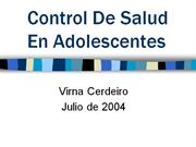 Control De Salud En Adolescentes