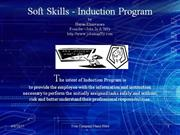 Soft Skills Induction Program