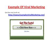 Example Of Viral Marketing And More