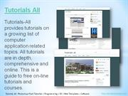 Tutorials All -Photoshop-Flash Tutorials  Programming  3D  Web Templat