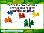 The Pur3x Company MLM Networking Pure3x Compensation Plan