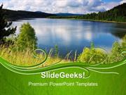 GREEN ENERGY BLUE LAKE NATURE PPT TEMPLATE