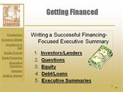 Writing a Successful Financing-Focused Executive Summary