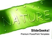 NATURE GO GREEN NATURE PPT TEMPLATE 1