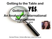 getting to say yes in international negotiations
