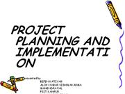 PROJECT PLANNING & IMPLEMENTATION