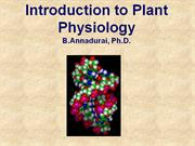 Lec 1.Introduction to Plant Physiology
