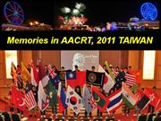 Memories in 18th AACRT,  2011 TAIWAN