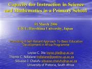 Mathematics in a Primary School