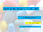 new drug delivery systems