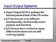 Input/output System