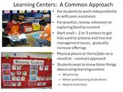 M12: Learning Centers and Contracts