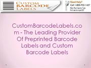 CustomBarcodeLabels.com - The Leading Provider Of Preprinted Barcode L