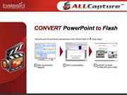 Convert PowerPoint presentations into Flash videos