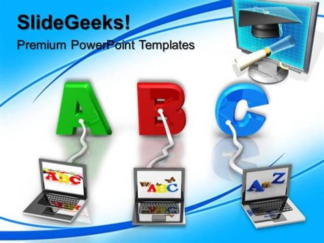Information technology multiple wired to abc education ppt related powerpoint templates toneelgroepblik Choice Image