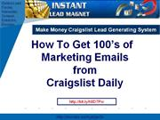 how to get 100's of marketing emails from craigslist daily