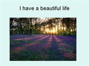 I have a beautiful life