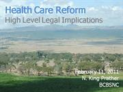 Health Reform Presentation Feb 2011 CLE Slides Only