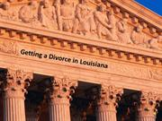 Getting a divorce in Louisiana