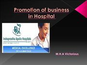 promotion of hospital business