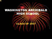 WAHS Class of 2007 Video Year Book