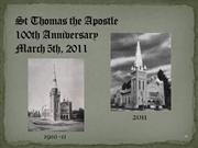 St Thomas 100th-PowerPoint