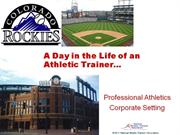 day in the life - professional sports - probst